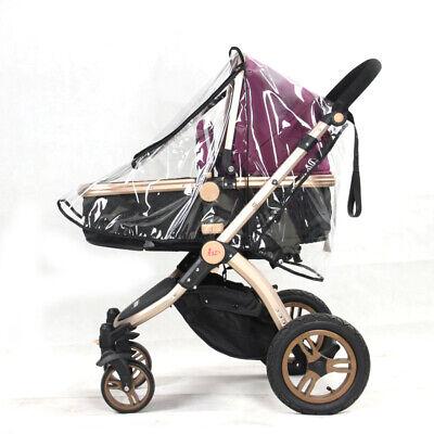 Universal Buggy Rain Cover Baby Pushchair Stroller Pram Buggy Clear Raincover UK 4