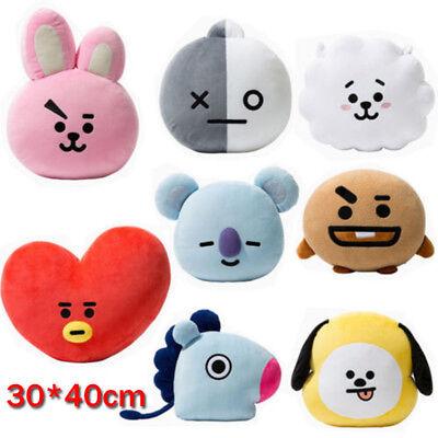 UK Hot BTS BT21 TATA SHOOKY RJ Plush Toy SUGA COOKY Pillow Sofa Cushion Doll 2
