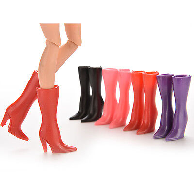 """10Pairs Mix Pairs High Heels Shoes 2.17/"""" Boots For  Doll Color Random E fj"""