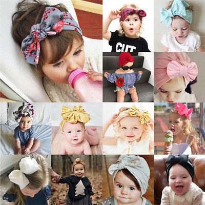 Baby Toddler Girls Kids Bunny Rabbit Bow Knot Turban Headband Hair Band Headwrap 3