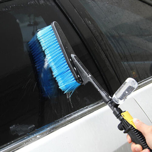 Water Fed Car Wash Cleaning Soft Brush Attach To Hose Pipe with Control Tap Tool 8