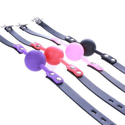 Cosplay  Silikon Mundknebel Ball Leder Bondage Restraint Strap 12