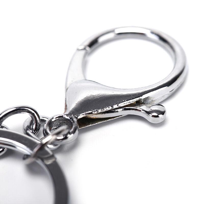 5pcs portachiavi d/'argento lucidato portachiavi fai da te a catena corta anell