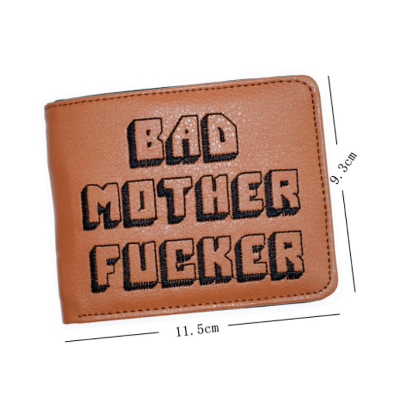 Bad Mother F*cker Men Wallet Pulp Fiction Jules Dark Short Card Holder Card 2