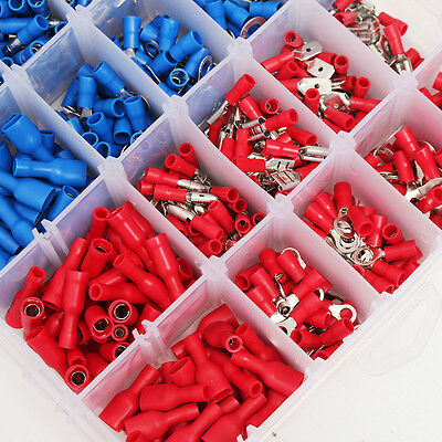 Electrical Wire Connector 720pcs Assorted Insulated Crimp Terminals Spade Set DH 3