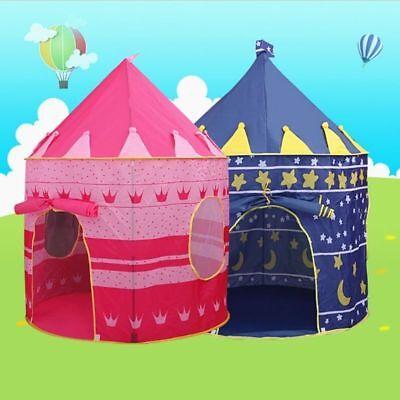 Children Kids Baby Pop Up Play Tent Boys Playhouse Indoor Outdoor Game Castle UK 8