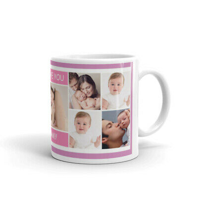 Personalised Mug Collage Photo Image Pictures Add Any Text Gift Tea Coffee Cup 10
