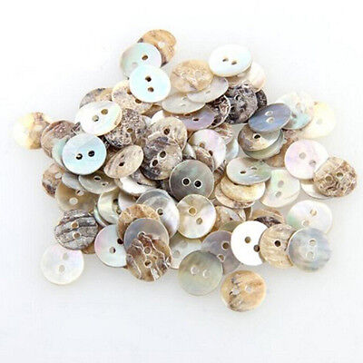 100 PCS / Lot Natural Mother of Pearl Round Shell Sewing Buttons 10mm TDHN 4