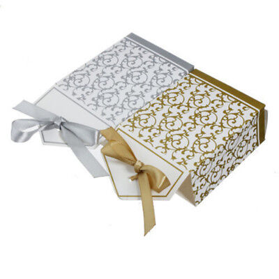 50/100pcs Wedding Favour Candy Boxes Bags With Ribbon Sweet Cake Gift Party Favo 10