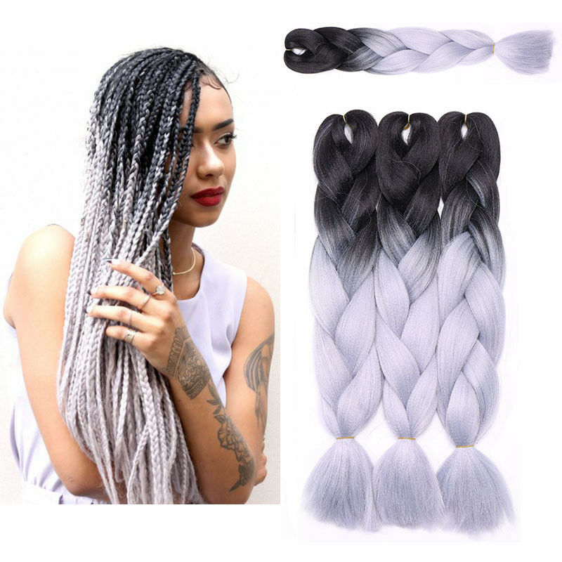 13 Packs Ombre 24 Kanekalons Jumbo Braiding Hair Extensions Blonde