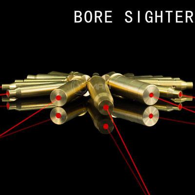 US Red Dot Laser Brass Boresight CAL Cartridge Bore Sighter For Gun Rifle Scope