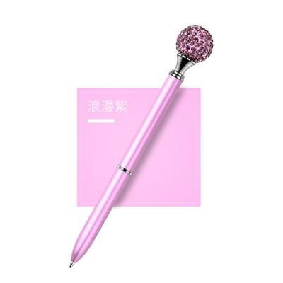 1X Metal Diamond Head Crystal Ballpoint Pen Creative Pen Stationery Gift Fashion 5