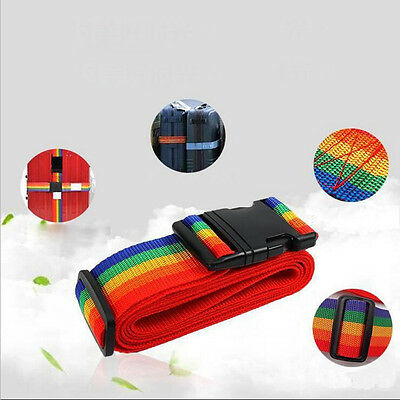 Rainbow Travelling Backpack Luggage Suitcase Strap Adjustable Nylon Strapping 4