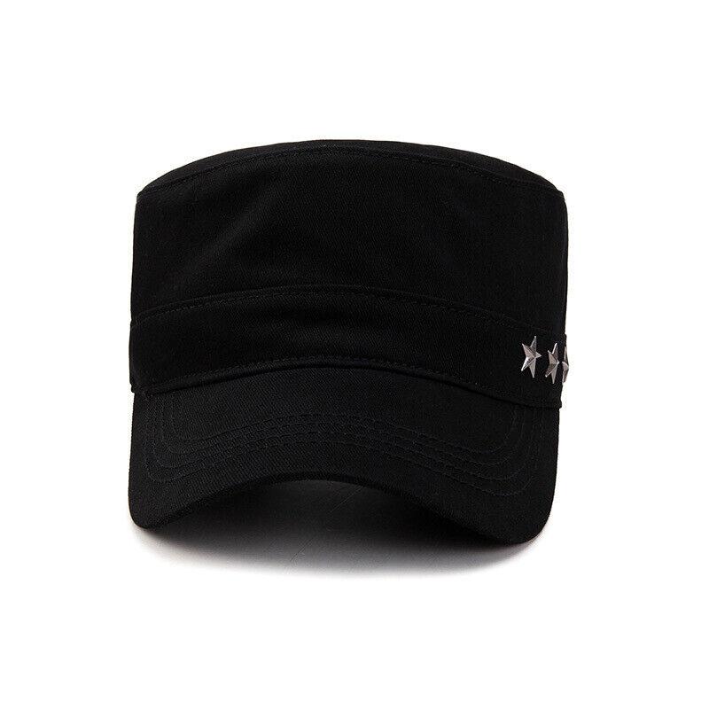 Classic Mens Women Army Military Cadet Combat Cap Sun Adjustable Sport Plain Hat 5