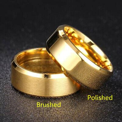 Titanium Stainless Steel 8mm Brushed Finish Men Women Wedding Band Spinner Ring 2