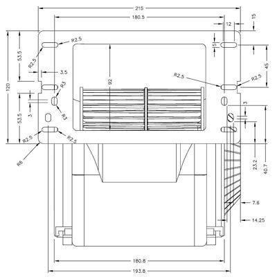Ventilatore centrifugo GT500CE01-W935050011 per stufa a pellet DEVILLE e PUROS 3
