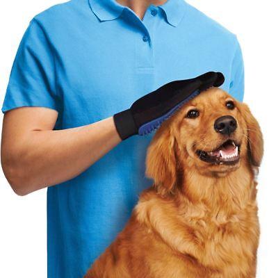 Dog Grooming Glove Mitt Pet Dog Cat Massage Groom Stripping Hair Remover Brush 4