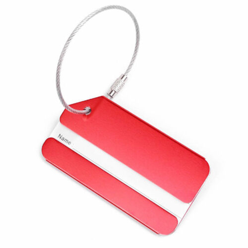 New 1PC Aluminium Luggage Tag Suitcase Label Name Address ID Bag Baggage Tag Hot 2