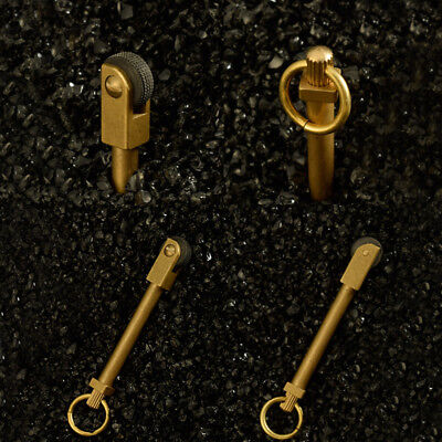 2×Mini EDC Brass Gear Spark Wheel Fire Starter Lighter Survival Outdoor Keychain