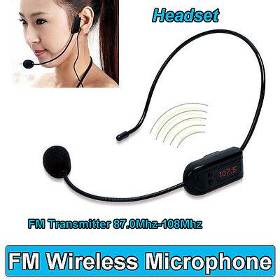 FM Wireless Micphone Headset For Transmitter Loudspeaker Amplifier Voice Booster 10