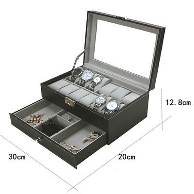 3/6/9/10/12/20/24 Watch Jewelry Storage Hold Box Watches Sunglasses Display Gift 3