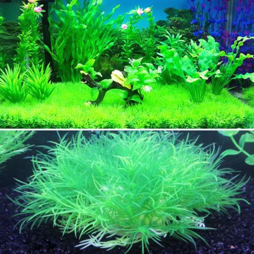 Neuf Plante Artificielle Herbe Aquatique en Plastique Voilet Vert Déco Aquarium