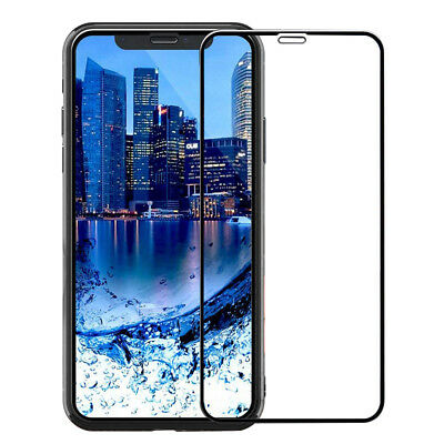 For iPhone X XS Max XR 7 8 Plus Full Coverage Tempered Glass Screen Protector /s 4