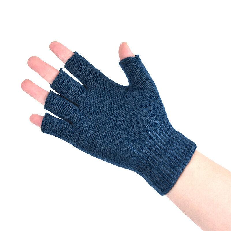 1 Pair Soft Half Fingerless Gloves Women Men Warm Knitted Mittens Couple _kz 3