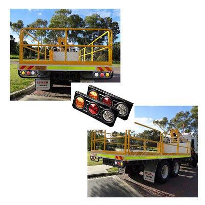 2 X 12V TAIL LIGHTS 63 LED TRUCK UTE TRAILER STOP INDICATOR PAIR 12 Volt NEW AU 9