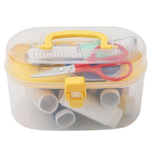 Home Travel Thread Threader Needle Tape Measure Scissor Storage Box Sewing Kit 10