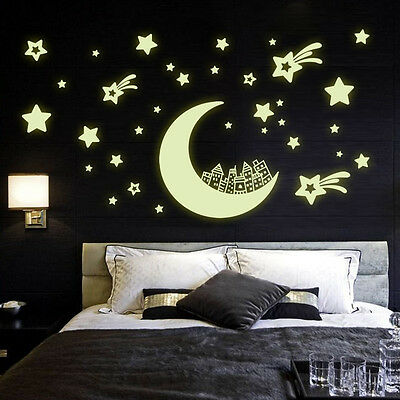 QT-0085 Glow in the dark home decor wall sticker decals kids baby gift DIY 3