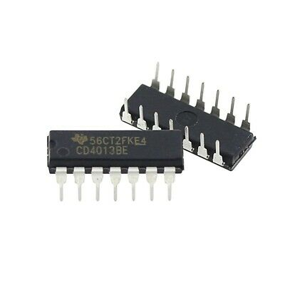 10PCS NEW CD4013BE CD4013 Integrated Circuit Dual D-Type Flip Flop DIP14 4