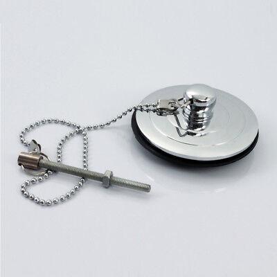 Silver/Gold/Antique Bath Plug with Chain 40-60mm Bathtub Basin Sink Drain Parts 5