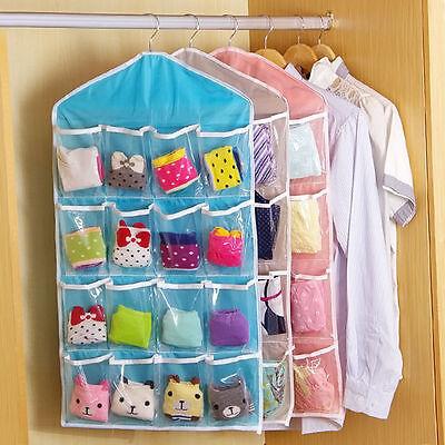 16 Pockets Door Wardrobe Hanging Organizer Bag Shoe Rack Hanger Closet Storage L 6
