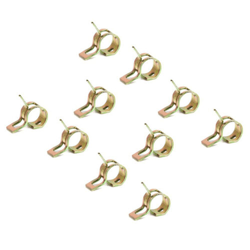 20pcs/set Spring Clip Fuel Hose Line Water Pipe Air Tube Clamps Fastener Dia.9mm