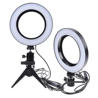 LED Ring Light Lamp Selfie Camera Phone Studio Tripod Stand Photo Video Dimmable 8
