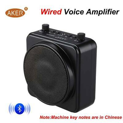 AKER Portable 22W PA Voice Amplifier Booster + Wired Microphone For Loudspeakers 10