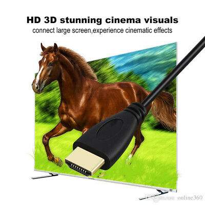 Brand New HDMI Premium Cable V2.0 Gold Plated High Speed Audio 3D 4K Ultra HD 6m 3