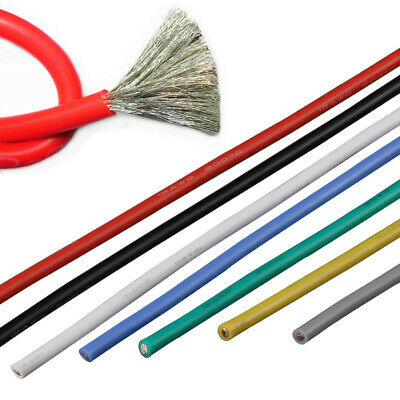 16 18 20 ~ 28AWG Silicone Wire Cable Copper Line Tinned Flexible Stranded 5M 10M 3