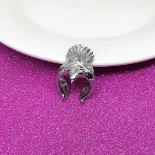Women Ring Silver Color Long Angel Eagle Bird Wing Adjustable Band Jewelry RU 5