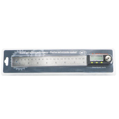 200 mm 8 inch Electronic Digital Protractor Goniometer Angle Finder Steel Ruler 10