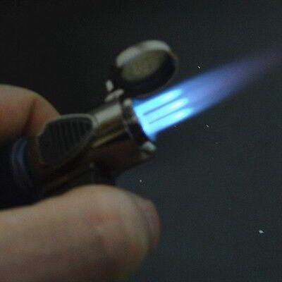Triple Jet Windproof Torch Gas Power Lighter Flame Butane For Cigar Cigarette 2