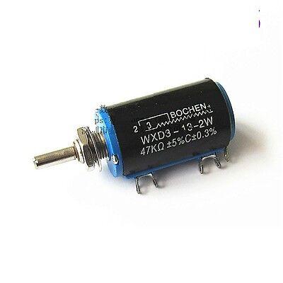 10 pcs WXD3-13-2W 47K Ohm Multi-Turn Wirewound Potentiometer
