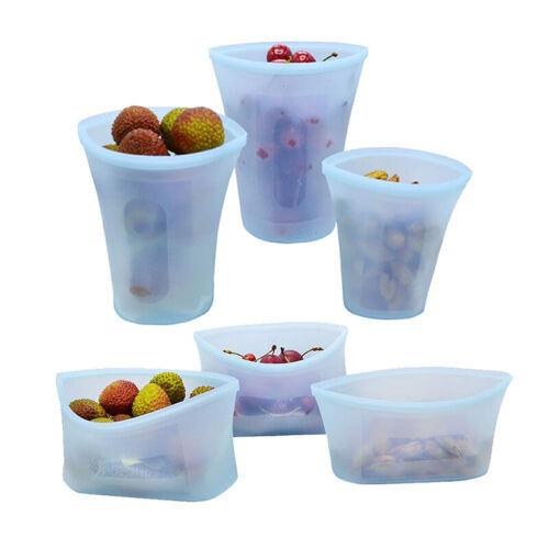 Reusable Silicone Food Fresh Bag Leakproof Seal Food Storage Bag Snack Fruit Bag 2
