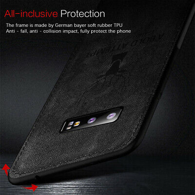 For Samsung Galaxy S10 Plus Note10 Case Hybrid Soft TPU Leather Matte Back Cover 10