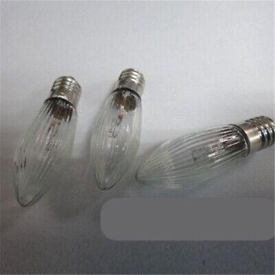 30Stk LED 0,2W E10 10-55V Topkerzen Riffelkerzen Spitzkerzen Ersatz Lichterkette 12