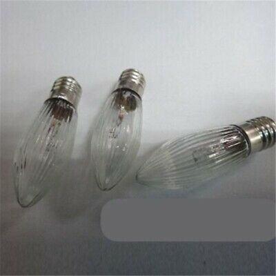 3x LED 0,2W E10 10-55V Topkerzen Riffelkerzen Spitzkerzen Ersatz Lichterkette 12