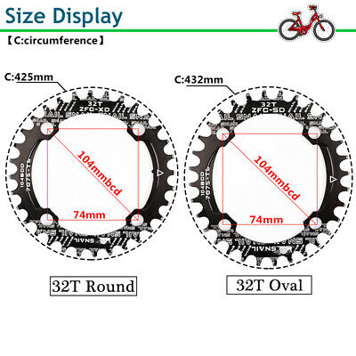 Narrow Wide Single Chainring Guard 32-42t 104bcd MTB Bike Fit Shimano Crankset