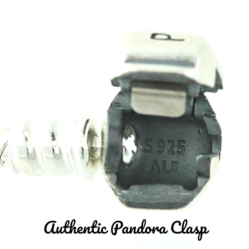 "AUTHENTIC Pandora Bracelet Silver White  ""LOVE STORY"" with European Charms New 5"