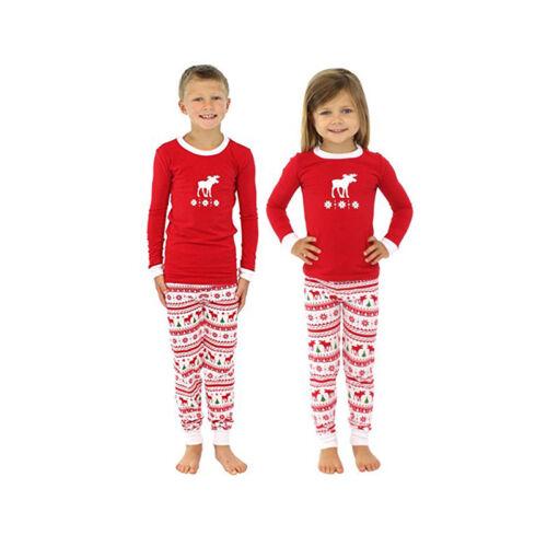 c47333cbe6 Xmas Familie Pyjamas Set Damen Herren Kinder Weihnachten Schlafanzug  Nachtwäsche 3 3 von 12 ...
